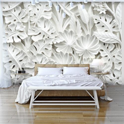 Alabaster Garden Wallpaper Mural   Feature Wallpaper