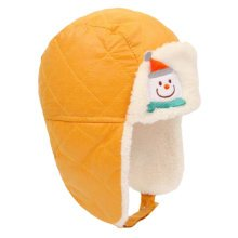 Winter Baby Kids Warm Earmuffs Hats Comfortable Cotton Inner Caps Best Gift-Yellow