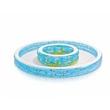 Intex 57143 inflatable paddling double pool for kids