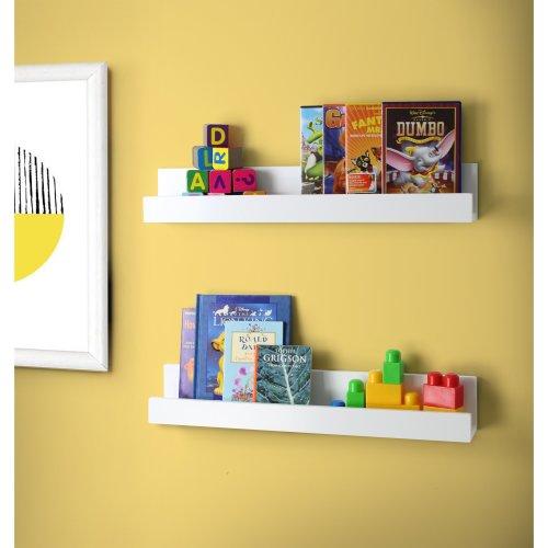CHILDREN's Shelving Shelf Display Units Set of 2 60cm Kids White