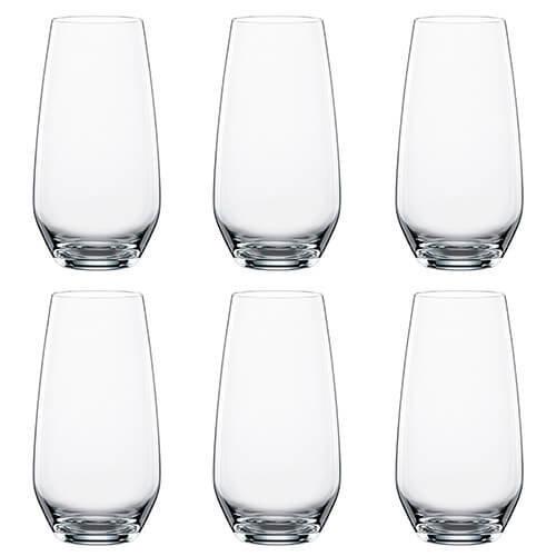 Spiegelau Authentis Summer Drinks Glasses, Clear, Set of 6