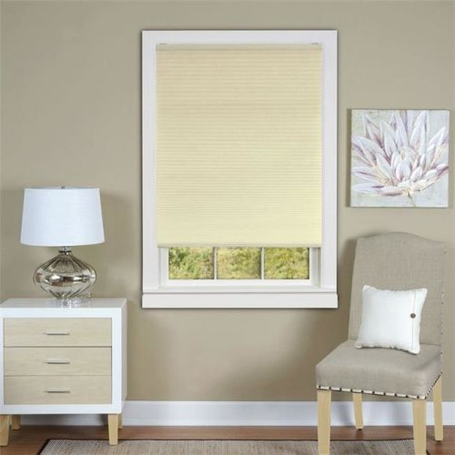 Honeycomb Cellular Alabaster Pleated Cordless Shade 27x64