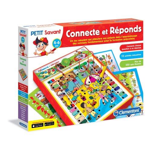 Clementoni–62707-ADN –Connecte et Réponds Educational Game [French Version]