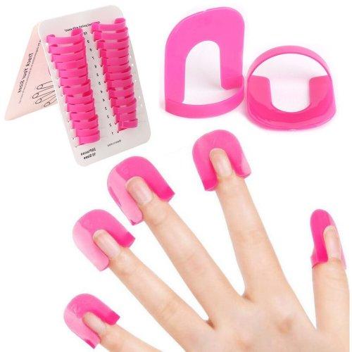 Flirtare 26Pcs Nail Polish Protector Stencil UV LED Nail Art Lacquer Palisade Cuticle Guard Skin Barrier Protector Gel Nail Tips Forms Anti Spill...