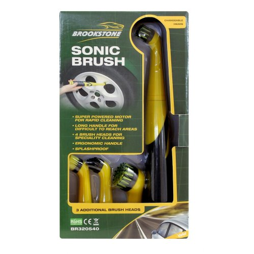 SonicTurbo AlloyWheel Cleaning Bathroom Household Car Scrubber Brush Tool 4Heads