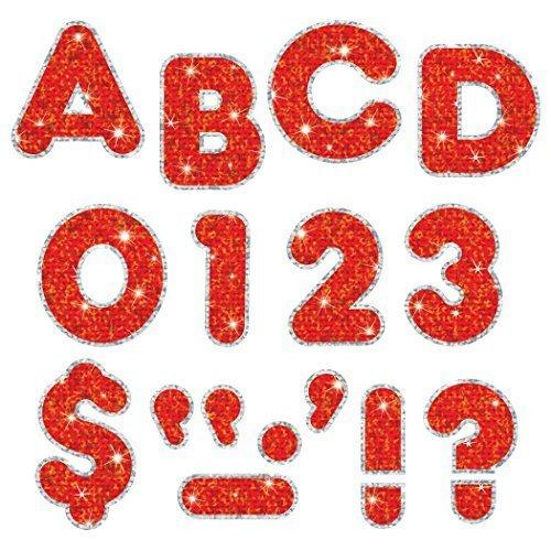 """Trend Enterprises Sparkle Plus Casual Uc Ready Letters (140 Piece), 2"""", Red"""