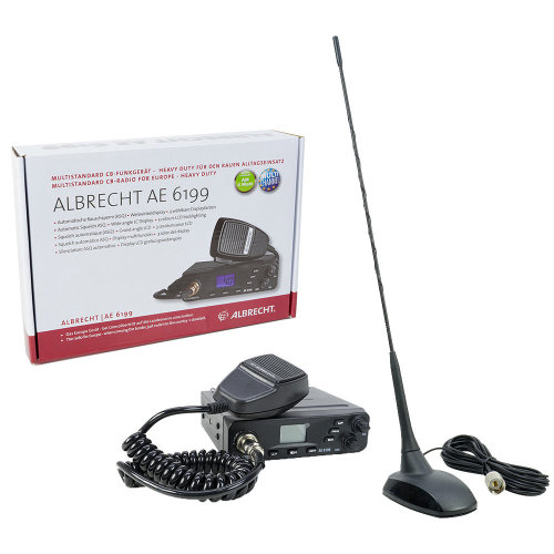 CB Radio Albrecht AE 6199 ASQ with CB antenna PNI Extra 48 with magnetic base