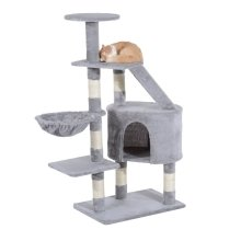 Pawhut Cat Tree Kitten Scratching Post Play House Pet Furniture 125cm