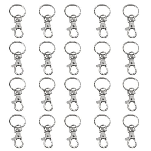 20pc Trixes Small Swivel Clasp Keyrings | Lobster Clasp Keychain Set