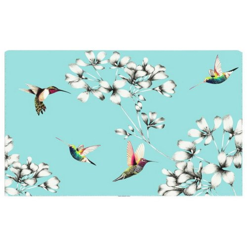 Home Creative 50-Inch TV Cloth Decorative Dustproof Cover, Light Blue And Birds