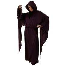 Robe & Hood Satin Long Sleeved Black
