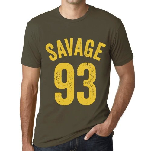 71fcb43c Mens Vintage Tee Shirt Graphic T shirt Savage 93 Military Green on OnBuy