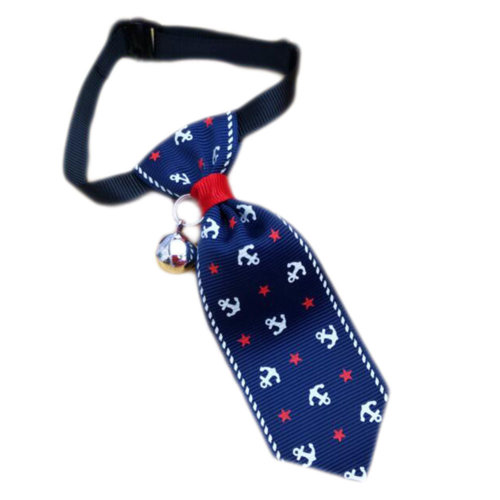 England Style Pet Collar Tie Adjustable Bowknot Cat Dog Collars with Bell-B04