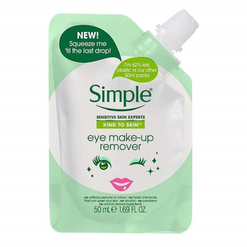 Simple Eye Make-Up Remover Pouch 50ml