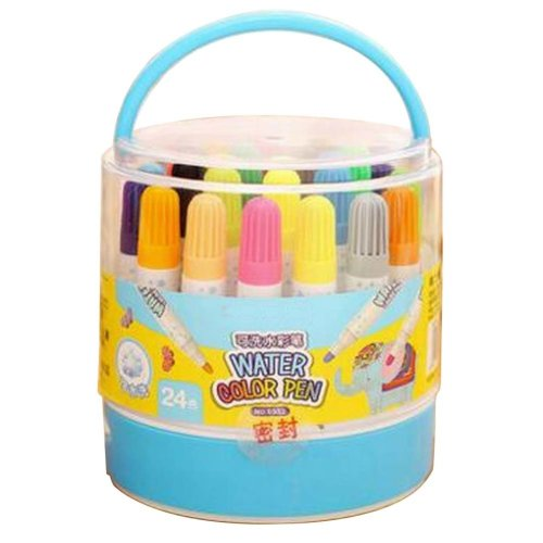 [D] 24 Colors Watercolor Drawing Pens Colored Marker Pens Set for Children