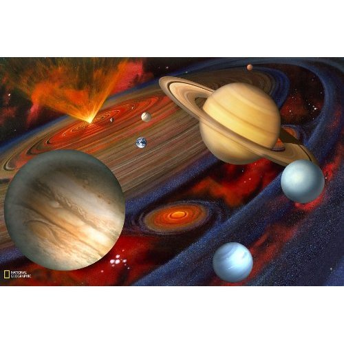 Brewster National Geographic Kids NG94613 Planets Wall Mural 72 Inch x 48 Inch
