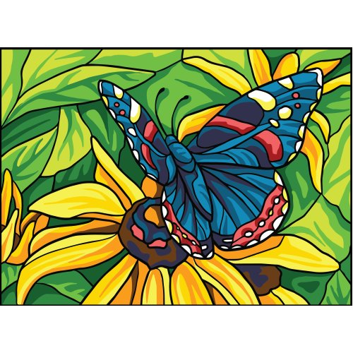 Collection D'art Needlepoint Printed Tapestry Canvas 22X30cm-Butterfly