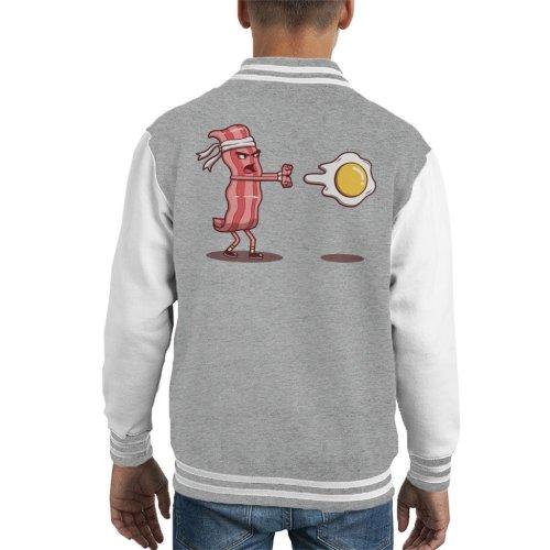 Bacon Fighter Hadouken Street Fighter Kid's Varsity Jacket
