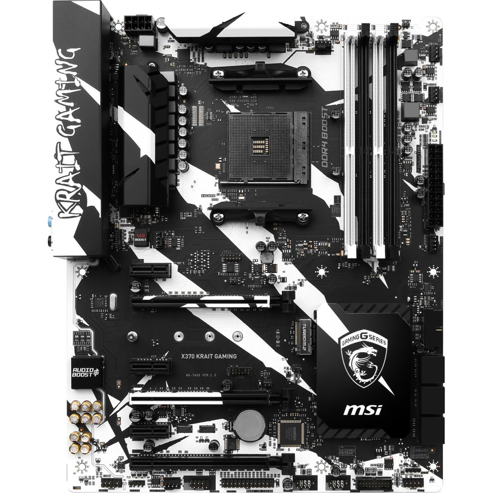 MSI X370 KRAIT GAMING AMD X370 Socket AM4 ATX motherboard on