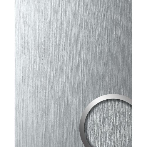 WallFace 12447 DECO SILVER Wall panel self-adhesive Metal light grey 2.6 sqm