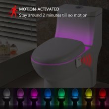 8 Colors Intelligent Closestool Induction Motion Sensor Activated Toilet Night Lamp