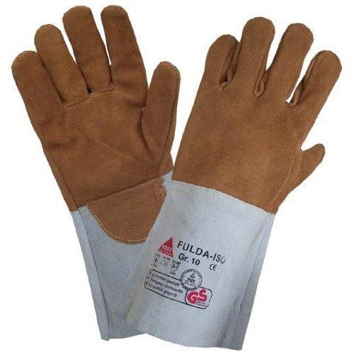 Welding gloves FULDA-ISO - Heat resistant/Kevlar yarn - Gr. 10
