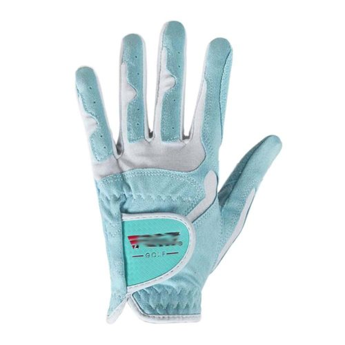 Classic Simple Design Women Golf Gloves Non-slip Sport Gloves(Blue) #21