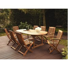 8 Seater Wooden Garden Table and Chairs MAUI