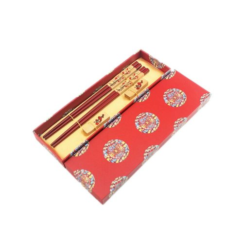 2 Boxes of Chinese Chopsticks Business Gifts Birthday Gift, Plum Flower