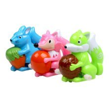 2 Pcs Cute Animals Wind-Up Toy For Toddler/Kids, Fox(Color Random)