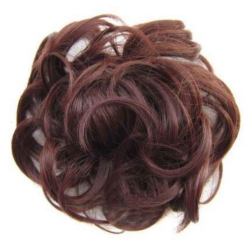 Messy Fake Hair Bun, Curly Fake Hair, Updo Hair, Easy to Wear [C]