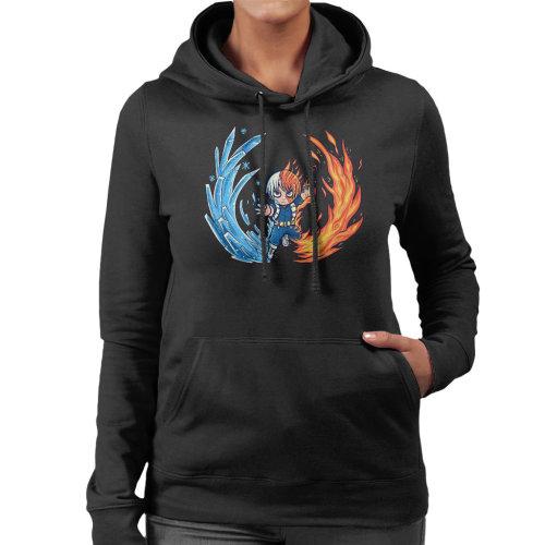 Best Hot And Cold Boy My Hero Academia Women's Hooded Sweatshirt