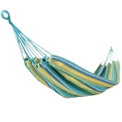 "Fashion Creative Canvas Stripe Hammock Outdoor Foldable Hammock 76.7*33"" Blue"