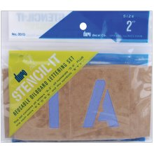Stencil-It Reusable Lettering Set-2""