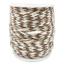 Coffee/White 2 Piece x 32 Feet-8mm Gift Packing String Jute Twine DIY Arts Decor