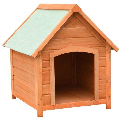 vidaXL Dog Cage Solid Pine & Fir Wood 72x85x82 cm