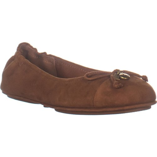Coach Pearl Slip On Front Bow Ballet Flats, Saddle, 6.5 UK