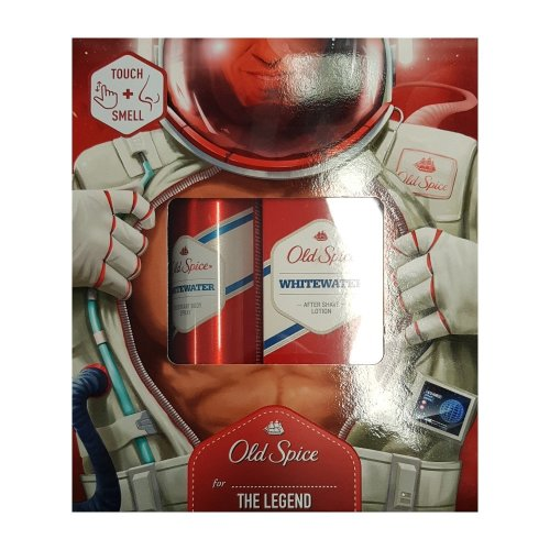 Old Spice Whitewater Aftershave Lotion 100ml & Deodorant Body Spray Gift Set on OnBuy