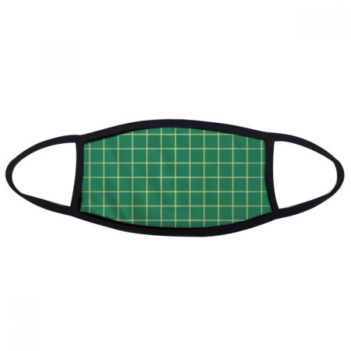 Green White Grid Decorative Pattern Mouth Face Anti-dust Mask Anti Cold Warm Washable Cotton Gift