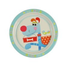 3 Pieces Of Fashion Cartoon Dog Drop Resistance Plate For Children