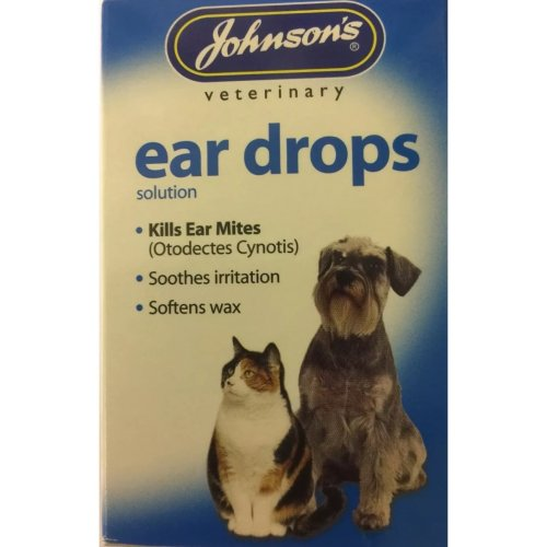 Johnson's ear drops for dogs and cats