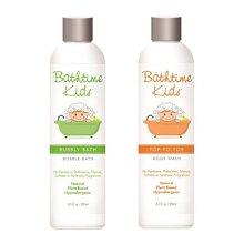 "Bathtime Kids Natural Body Wash & Bubble Bath Set Toxin Free, Sulfate Free, Paraben Free, No Artificial Fragrances, Hypoallergenic "" 8.5 oz"