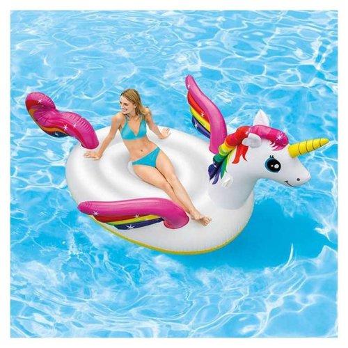 Intex 57281 Mega Unicorn Island Inflatable Ride On for the Pool or Beach