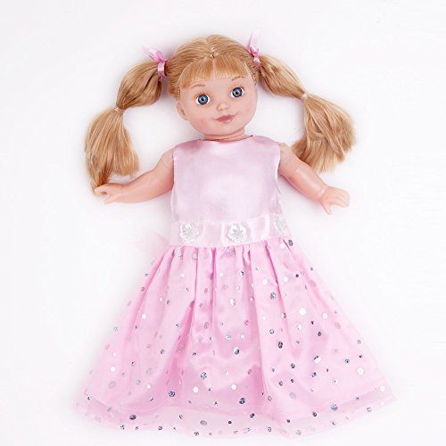 Doll Clothes Pink Dress With Silver Sequin Fits 18 Inches American Girl Dolls