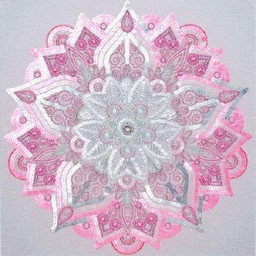 VDV Bead Embroidery Kit - Large Mandala - 40 x 40 cm - beads & sequins