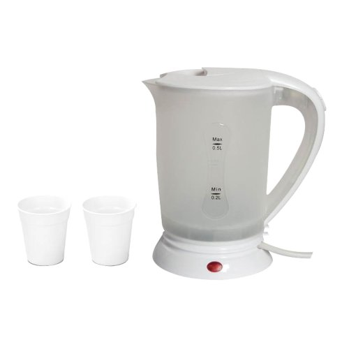 Travel Kettle 0.5 Litre Dual Voltage Hot Water Kettle Boil Dry Protection