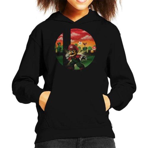 Smashbros Mario Kid's Hooded Sweatshirt