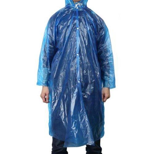 5 Pcs Disposable Plastic Travel Camping Rainwear Raincoat Emergency Waterproof