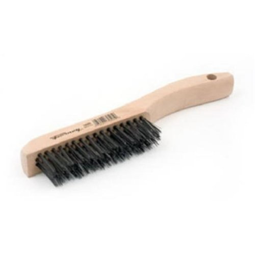 70505 Carbon Steel Wire Scratch Brush with Wood Shoe Handle