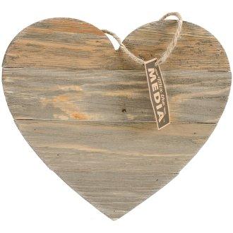 "Jillibean Soup Mix The Media Shaped Wooden Plank-11""X9.75"" Dark Heart"